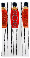 Patterned Masai Triptych Bath Towel