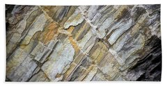Bath Towel featuring the photograph Patterns In The Rock by Kerri Farley