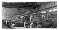 Patton Tank Assembly Line Hand Towel