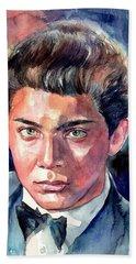 Paul Anka Young Portrait Bath Towel