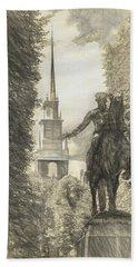 Paul Revere Rides Sketch Hand Towel