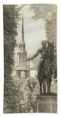 Paul Revere Rides Sketch Bath Towel