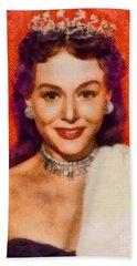 Paulette Goddard, Vintage Actress By John Springfield Bath Towel