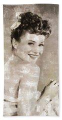 Paulette Goddard, Vintage Actress By Mary Bassett Bath Towel