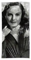 Paulette Goddard Vintage Hollywood Actress Bath Towel