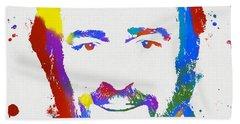 Pavarotti Colorful Paint Splatter Hand Towel
