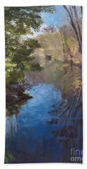 Pawtucket Canal Hand Towel