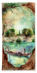 Paysage With A Boat Hand Towel