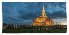 Payson Temple Panorama Hand Towel