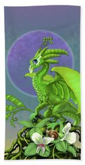 Hand Towel featuring the digital art Pea Pod Dragon by Stanley Morrison