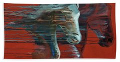 Bath Towel featuring the painting Peace And Justice by Jani Freimann