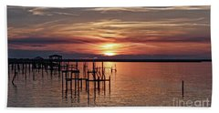 Peace Be With You Sunset Bath Towel