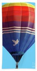 Peace Dove Hot Air Balloon Hand Towel