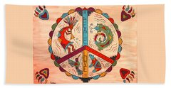 Peace Love And Harmony Hand Towel