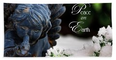 Bath Towel featuring the photograph Peace On Earth Angel by Shelley Neff