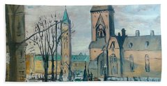 Peace Tower And East Block, Ottawa Hand Towel