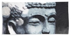 Peaceful Buddha 3- Art By Linda Woods Hand Towel