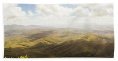Peaceful Countryside Panorama Bath Towel