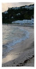 Bath Towel featuring the photograph Peaceful Evening On Dawn Beach by Margaret Bobb