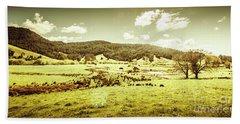 Peaceful Panoramic Pasture Hand Towel