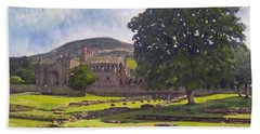 Peaceful Retreat - Melrose Abbey  Hand Towel
