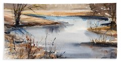 Peaceful Stream Hand Towel by Judith Levins