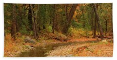 Peaceful Stream Bath Towel by Roena King