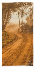 Peaceful Tasmania Country Road Hand Towel