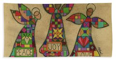 Peace,joy,love Hand Towel