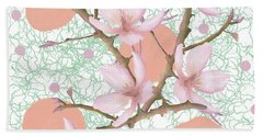Peach Blossom Pattern Hand Towel