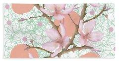 Peach Blossom Pattern Bath Towel