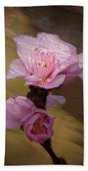 Peach Blossom Through Glass Hand Towel