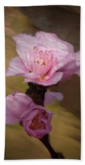 Peach Blossom Through Glass Hand Towel