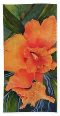 Peach  Blush Orchid Hand Towel