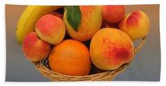 Peach Bowl  Hand Towel