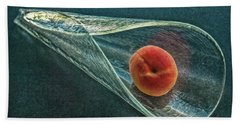 Bath Towel featuring the photograph Peach Cone by Hanny Heim