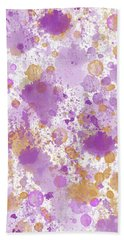 Peach Pink Watercolor Abstract Hand Towel