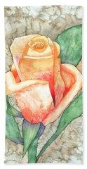 Peach Rose Hand Towel