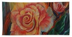 Peachy Rose Hand Towel