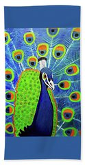 Peacock #3 Hand Towel