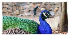 Pretty Proud Peacock Bath Towel