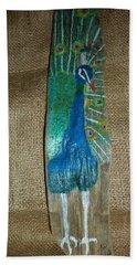 Peacock Hand Towel by Ann Michelle Swadener
