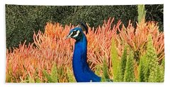 Peacock Blues Hand Towel