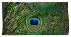 Peacock Feather Bath Towel