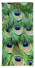Peacock  Feathers Bath Towel