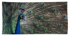 Hand Towel featuring the photograph Peacock II by Lisa L Silva