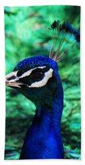 Peacock Hand Towel by Joseph Frank Baraba