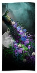 Peacock Of  Flowers Hand Towel