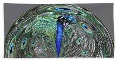 Peacock Swirl #2 Hand Towel