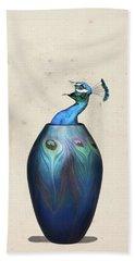 Peacock Vase Hand Towel